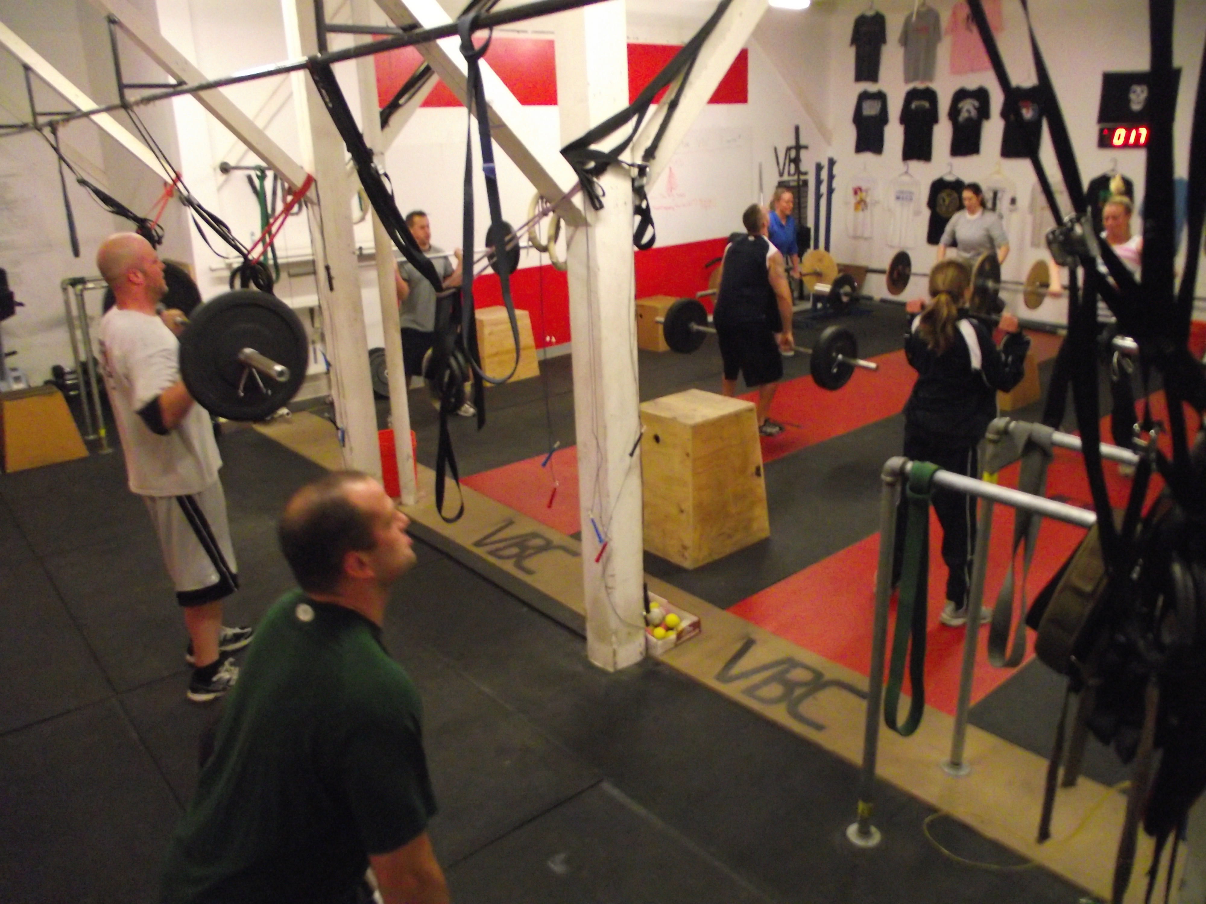 Some of the 5:30 pmers hitting their WOD. Keep the Classes Growing as it is only a sign of Vagabonds Growth!