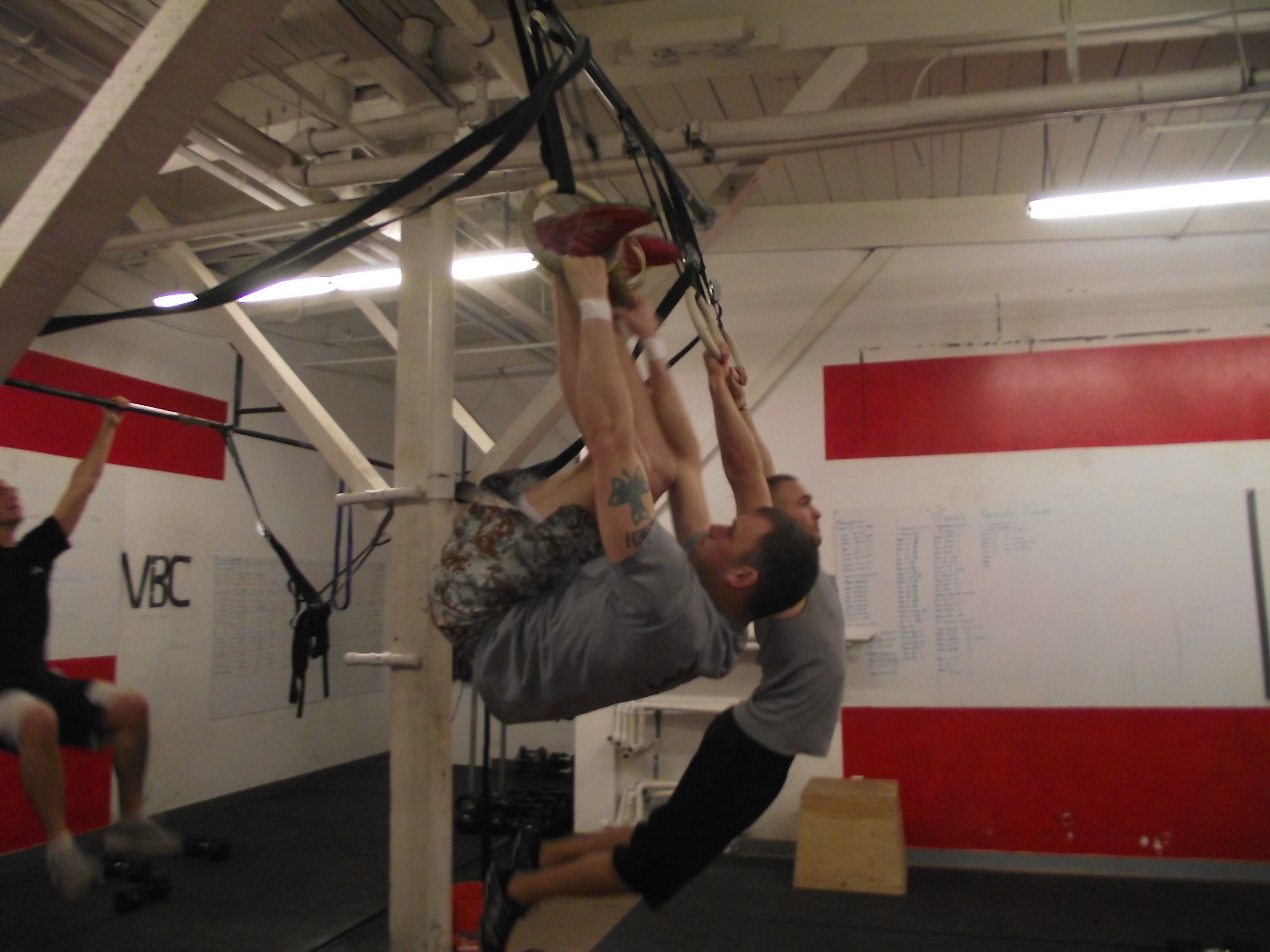 Ross and Mike's Toes Through Rings! Last Year we had one person do sectionals, this year we bumped up to 12 inside Vagabond CrossFit and 3 more people being trained online as well! Great Job Everyone!